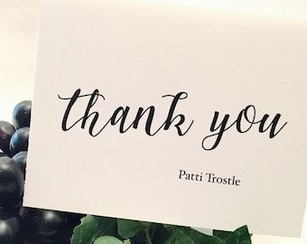 Wedding Thank You Notes Large Script, handmade wedding stationery, bride and groom wedding thank you cards thank you notes wedding