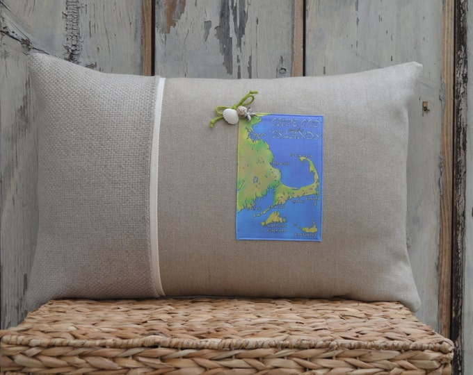 Cape Cod and the Islands Postcard Pillow  (available in 3 styles)