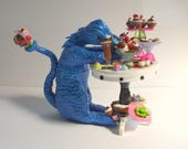 dollhouse Witch miniatures Candy loving dragon table set ooak Candy Land Dragon