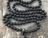 HELD for bccereta Lave Rock 108 Bead Mala Necklace