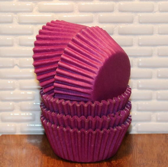 MINI Purple Cupcake Liners  (Qty 50) Mini Purple Cupcake Liners, Mini Purple Baking Cups, Mini Cupcake Liners, Mini Baking Cups,