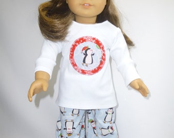 Winter pajamas for your American Girl Doll