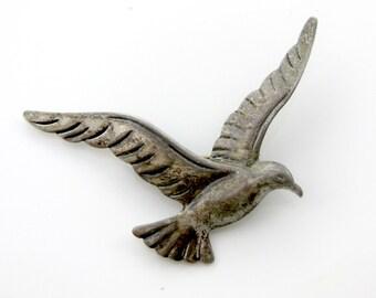 Vintage Beau Seagull Bird Sterling Silver Pin Brooch