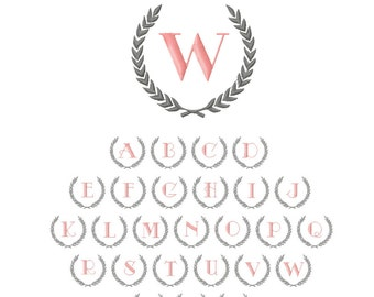 Wreath Monogram // Gift // Baby Shower // Holiday // Add-On // New