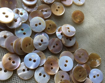 30 Natural Mother of Pearl 18L 11mm for Knitting, Jewelry, Garments, Crafts  BU 72