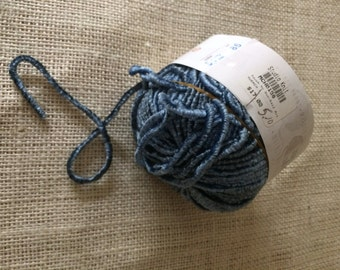 New Muench Touch Me Yarn 3630 Slate Blue 1 Skein Destashing