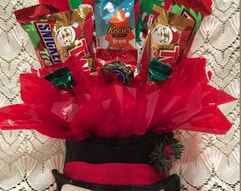 Christmas Snowman Candy Arrangement