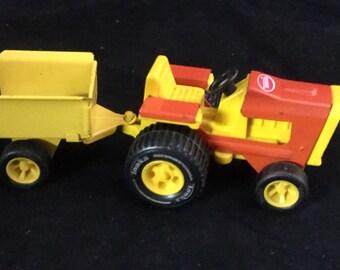 Tonka Toys, Vintage Tonka, Tonka Tractor, Tractor and Wagon