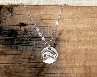 Leaping Trout Necklace