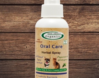 Oral Care Herbal Spray for Dogs or Cats