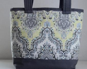 Sari Grey Fabric Tote Bag - READY TO SHIP