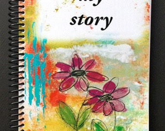 "My Story 5.5""x8.5"" Lined Paper Coil Bound Notebook, Journal, Wholesale Notebooks, Wholesale Journals, Stationery"