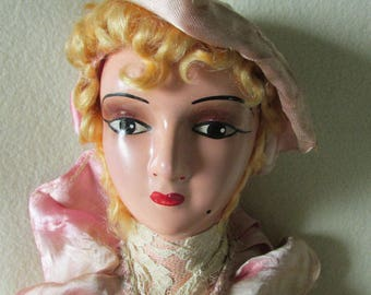 Antique Art Deco Boudoir Doll Flapper with Original Dress, Gatsby Elegance
