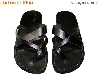 20% OFF Black Comply Leather Sandals for Men & Women