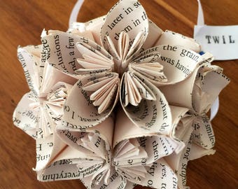 Twilight Book Small Paper Flower Pomander Ornament