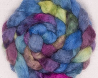 Hand painted spinning wool, hand painted top, spinning fibre, felting fibre, fiber, Teeswater, 100g, Colour; Besotted