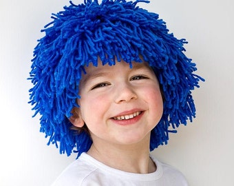 PDF Sewing Pattern Thing 1 & Thing 2 Blue hair Yarn wig for party costume