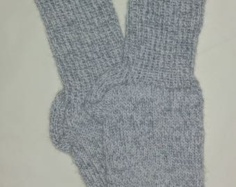 New Warm and Soft Hand Knit 100% Pure Wool Socks (9.5 inches length)
