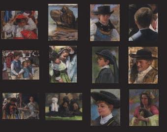 Digital download. Twelve 300dpi scans of pastels. Batch 1