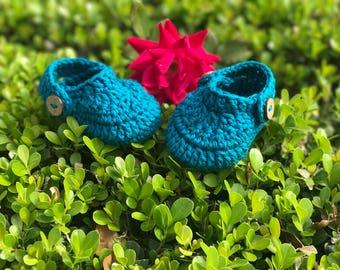 Crochet Crocs Like Baby Infant Newborn Booties Slippers