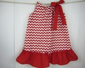 Toddler Red White Chevron Dress Boutique Pillowcase Dress Ruffle Girl Baby Summer Clothes  1/2T 1T 2T 3T  4T, Trending Popular Best selling