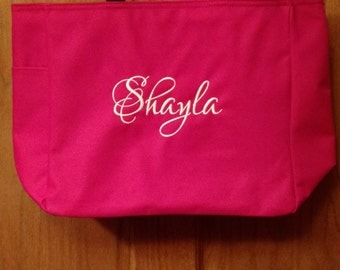 Set of 4 Personalized Embroidered Tote Bags Bridal Party Bridesmaid Gift