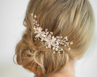 Wedding Hair Comb, Wedding Headpiece, Crystal Pearl Bridal Comb, Bridal Headpiece, Pearl Bridal Comb