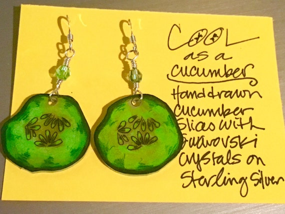 "Earrings ""Cool as a Cucumber"""