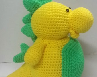 Stegosaurus/Crochet Dinosaur/Amigurumi/Plush Dinosaur/Plush Stegosaurus/Stuffed Dinosaur/Stuffed Animal/Stuffed Stegosaurus/Child's Toy/Toy