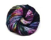 "Indie Rock Worsted Yarn - ""Acid Rainbow"" - Handpainted Superwash Merino - 218 yards"