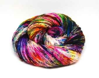 "Acoustic Sock Yarn - ""Supernova"" - Handpainted Superwash Merino - 400 Yards"