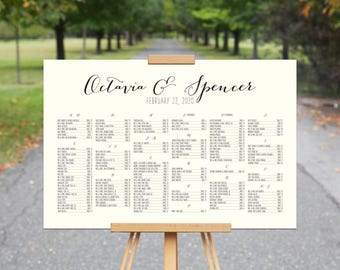 Printable Seating Chart, OCTAVIA+SPENCER, Wedding Seating Chart Poster, Seating Chart Printable, Wedding Seating Chart Alphabetical, Custom