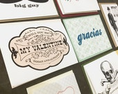 SALE - Assorted Flat Printed Greetings - 20 Cards And Envelopes