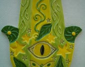 BIRT - HAMSA Hand, Good Luck, Protection - Ceramic Mosaic Tiles