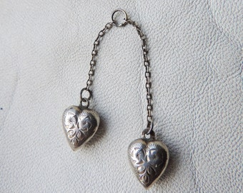 heart pendant double heart sterling pendant