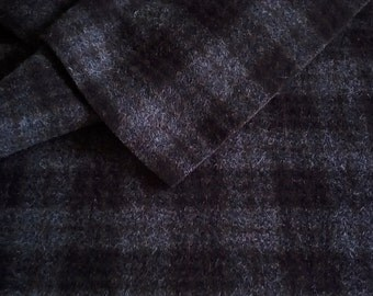 Wool Fabric, BLACK SHEEP, One Quarter Yard of Felted Wool Flannel, Great for Backgrounds
