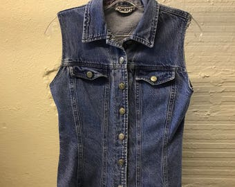 Jean Denim vest Vintage 1990s Cotton Blue California Concepts
