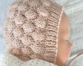 PDF Baby Hat Knitting Pattern, Baby Bonnet Pattern, Instant Download Digital Knitting Pattern Baby Hat, Childs Hat Pattern, Bubble Bonnet
