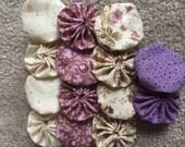 Yoyo fabric flower, 14 pieces, for scrapbook Embellishment APPLIQUE Quilt GARLAND decoratio