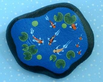Miniature fish pond-miniatures for fairy gardens-terrarium kits-doll house garden art-accessories for fairies-gnome garden-water feature-Koi