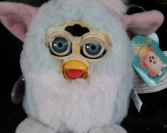Vintage Tiger Electronics ORIGINAL FURBY Baby Blue And Pink  70-940