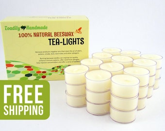 36 Tea Light Candles in Ivory - Plastic or Metal Cups - Free Shipping, Hand Poured One At A Time