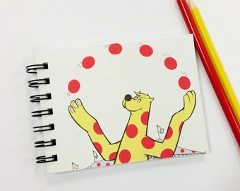 Juggling, Recycled Mini Notebook