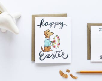 Easter Card - Easter Dachshund Card