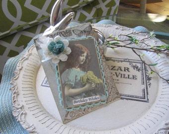 Victorian Birthday Card - Handmade Birthday Card - Birthday Wishes Card