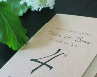 Guest Book Table Numbers  // Personalized Table Number Table // Anniversary Table Numbers
