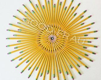 Wall art, Pencils, Classroom print, homeschool decor, printable school wall art, high definition pencil photo print, square