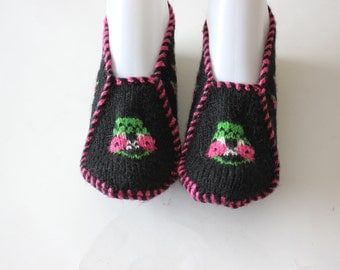 Ready to ship, Handmade Knit Women Socks, Slippers / Winter socks, slippers, Handmade warm Winter accessories, Autumn Accessories