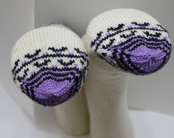 Hand knit Organic wool Socks, Earth tone Colour, 100% Organic Wool Socks, Knit winter socks,Handmade warm Winter accessories,women socks