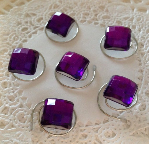 Hair Swirls Twists  Spins or  Coils in Dazzling Purple Square Acrylic